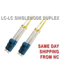 LC-LC SINGLEMODE 8.3/125 um UPC DUPLEX FIBER PATCH CORD 1 FOOT