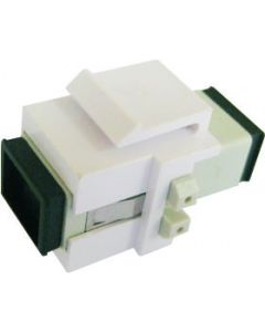 KEYSTONE INSERT W/SC SIMPLEX MM ADAPTER, WHITE FOR MFPP, WALLPLATES AND STANDARD KEYSTONE PANELS