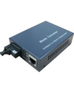10/100/1000BASE-TX TO 1000 LX CONVERTER,SM,1310NM,10KM.SC